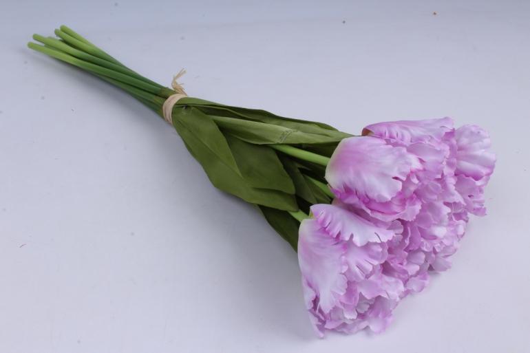тюльпаны букет 45 см (10 шт в уп) сиреневые art007