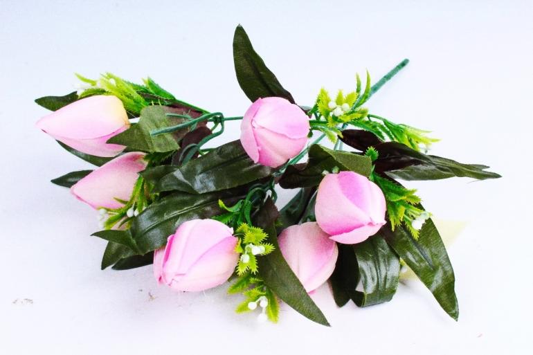 Тюльпаны с росянкой розовые