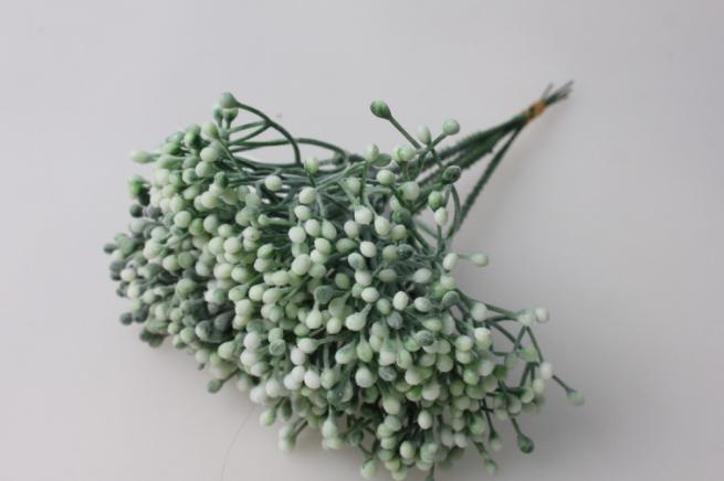 тычинки белые 1шт. (в уп 6 шт)  gaр97 - искусственные растения
