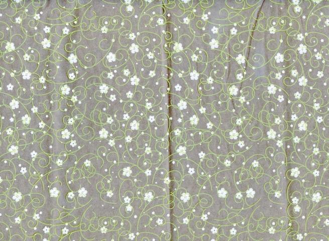гипсофила 0.7 упаковка для цветов,- цветочная плёнка - рулон 0,7 гипсофила - салатовый/белый 179710