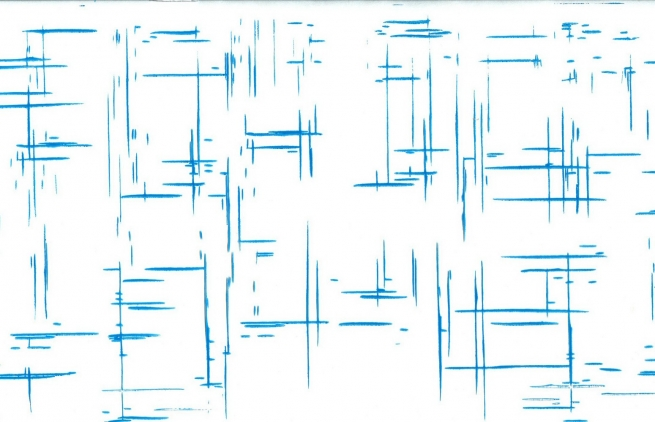 граффити 0.7 упаковка для цветов,- цветочная плёнка - рулон 0,7 граффити - голубой 7774