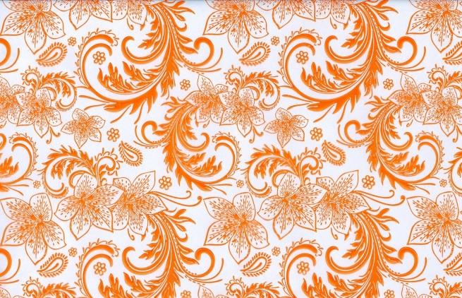 кружево 0.7 упаковка для цветов,- цветочная плёнка - рулон 0,7 кружево - оранжевый 5856