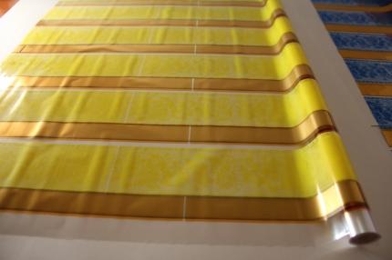 золушка 0.7 упаковка для цветов,- цветочная плёнка - рулон 0,7 золушка - жёлтый 14112