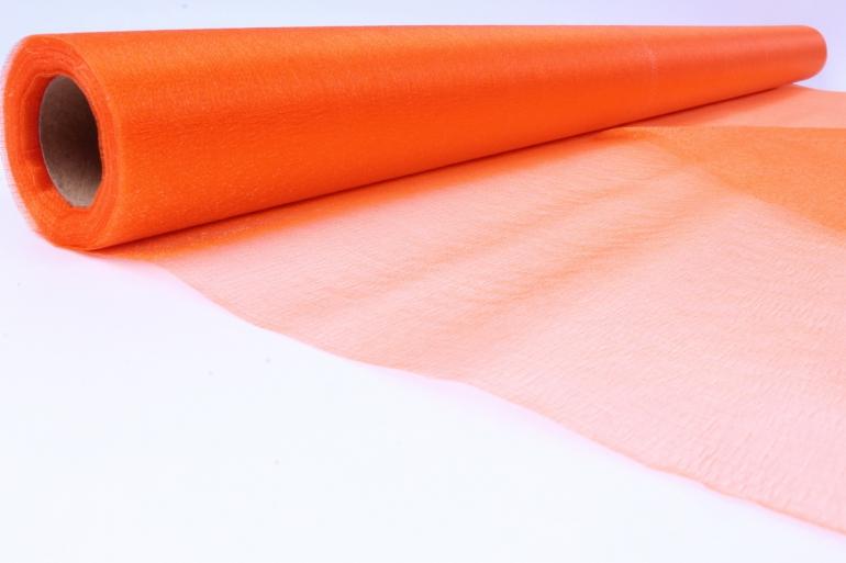 упаковочный материал органза - снег, 70см х 9м (оранжевый 1005)