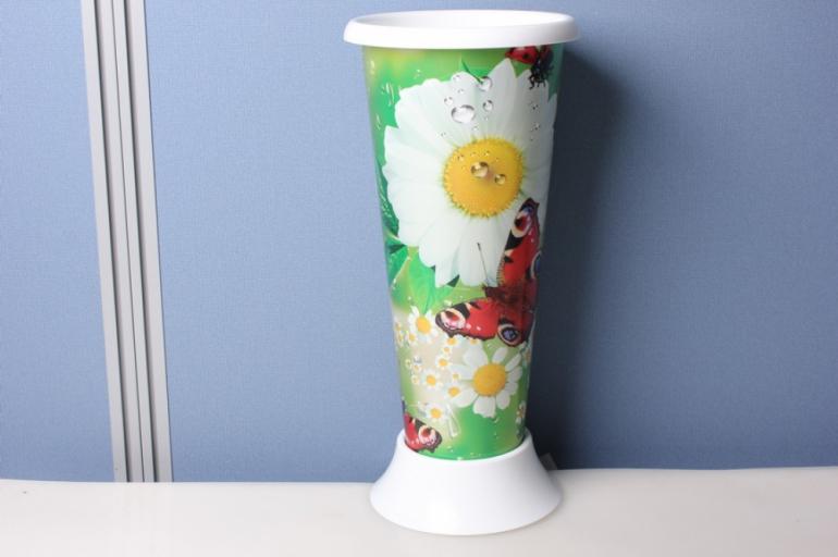 "ваза для цветов пластиковая ""ромашки"" h=20/d=12,5см"