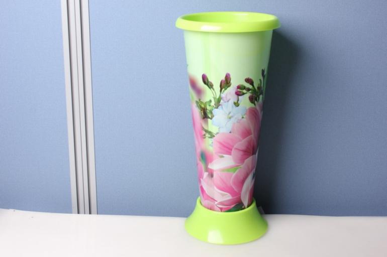 """ваза для цветов пластиковая """"весна"""" h=20/d=12,5см"""