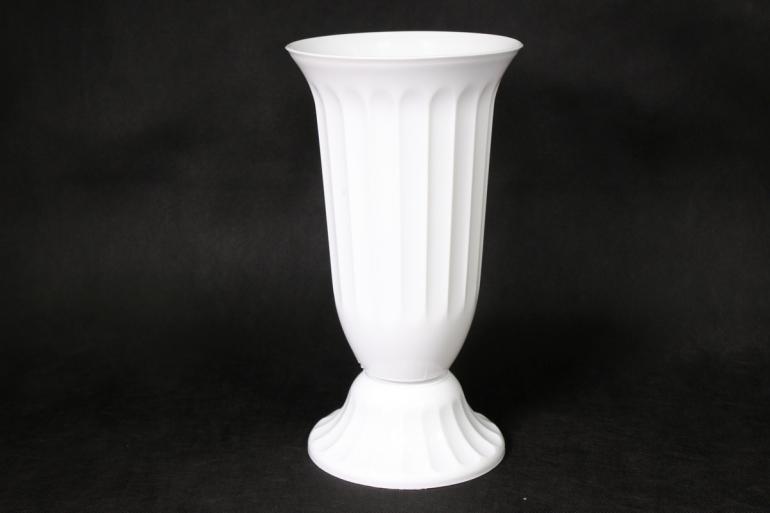 ваза рифленая белая d15/h26  43502515