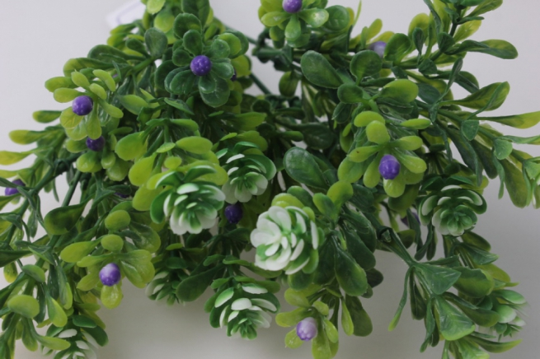 ветка бело/сиреневая 1шт. (6 шт в уп) kwl336 - искусственные растения