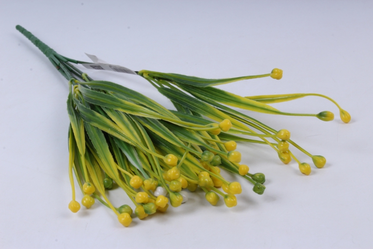 ветка декоративная жёлтая h=40cm