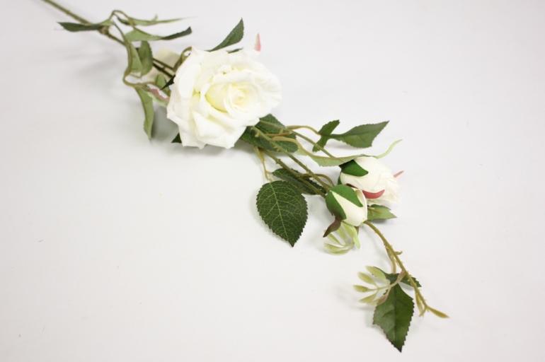 ветка розы 45 см, белая sun453