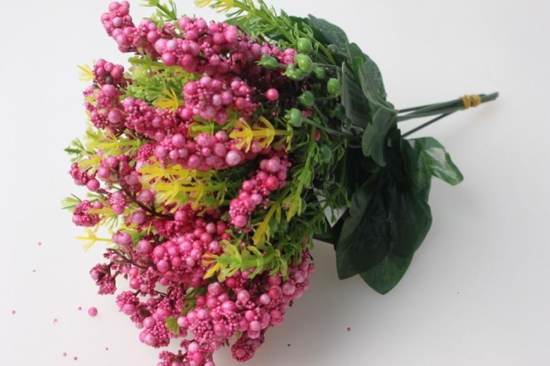 ветка с малиновыми ягодками  (6 шт в уп) kwl250 - искусственные растения для украшения