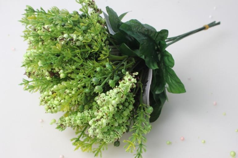 ветка с салатовыми ягодками (6 шт. в уп) kwl242 - растения искусственные для декора