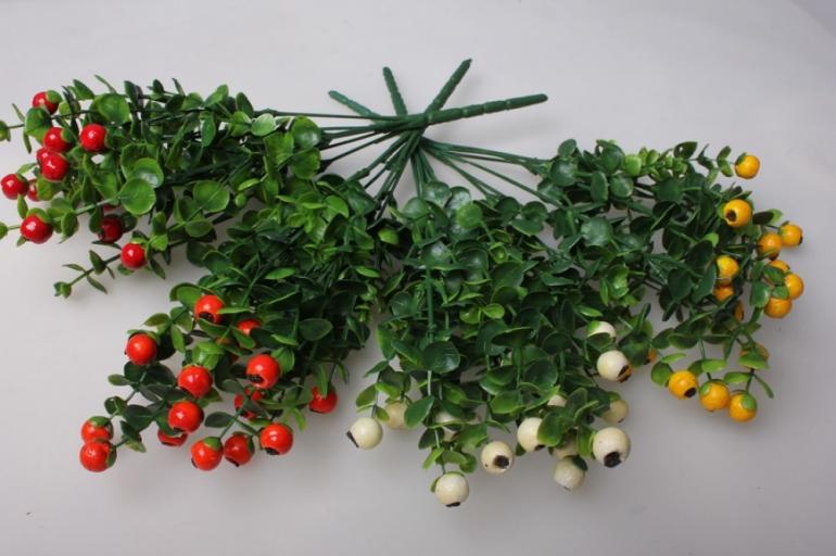 ветка с ягодами цвета в ассортименте 20см gaр232 1159