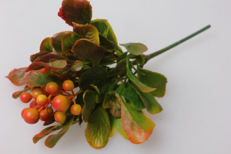 ветка с ягодками рябины 20см  3222