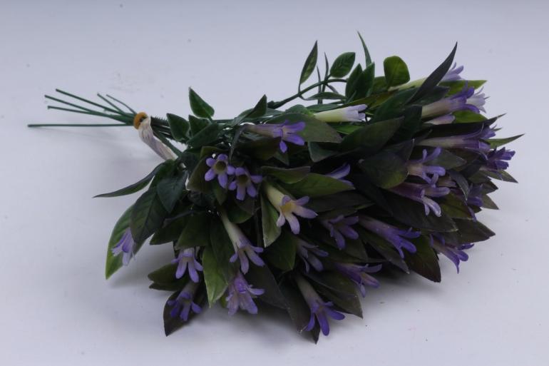 веточка с сиреневыми цветочками  25см (10шт в уп)  ava163b  8444