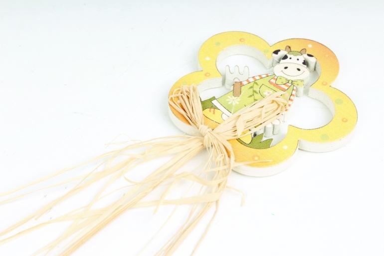 Вставка Цветочек с коровой  (1шт) 8974