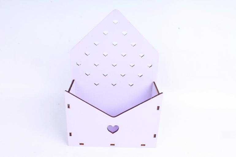 """Ящик (А) для цветов и подарков """"Любимой маме"""" №22  (Цвет Лиловый )Я055"""