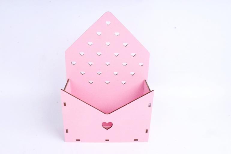 """Ящик (А) для цветов и подарков """"Любимой маме"""" №22 (Цвет Розовый)Я055"""