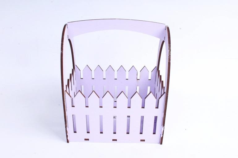 Ящик-заборчик (А)  с овальной ручкой  (Цвет Лиловый )Я056