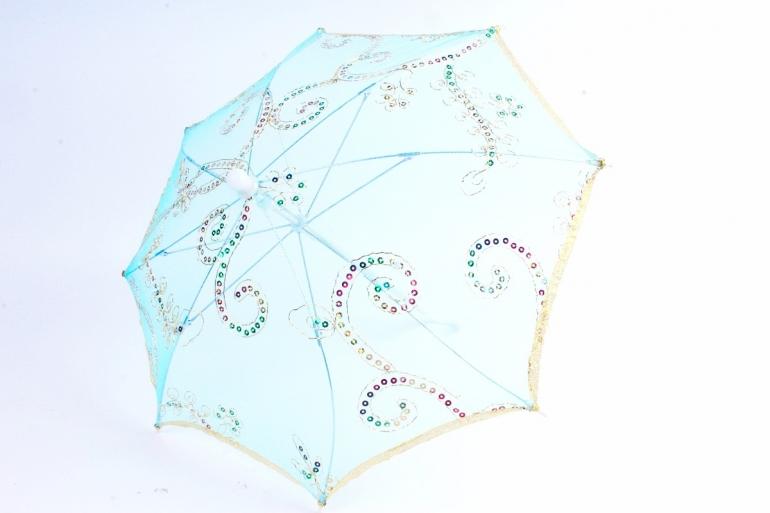 Зонт декоративный гипюр  Голубой