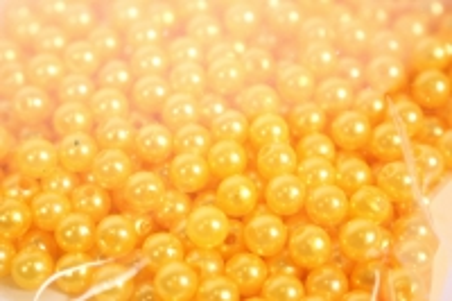 Бусины 6мм - Круглые перламутровые - Желтые (50гр) PL в ассортименте