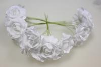 Бутаньерка Роза белая (3 букет. по 6шт)