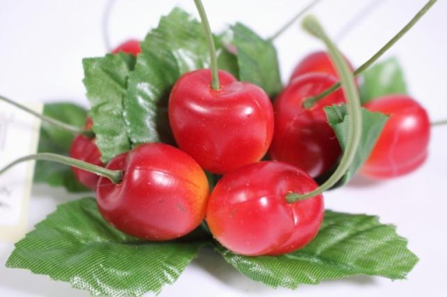 Искусственные фрукты - Черешня на кольце