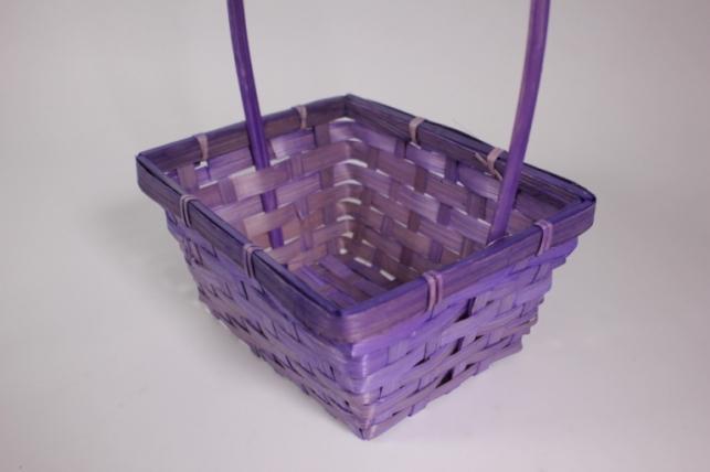 Корзина плетеная (бамбук) фиолетовая - Код 2076