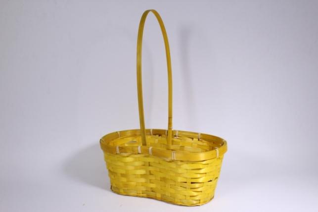 Корзина плетеная (бамбук) желтая - Код 7035