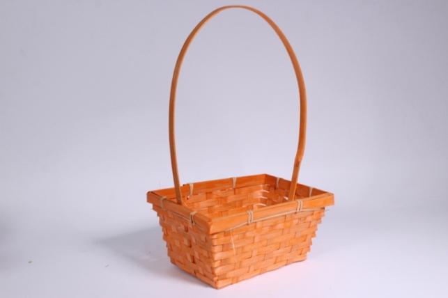 Корзина плетеная (бамбук) оранжевая - Код 2069