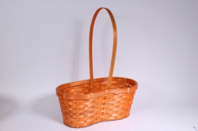 Корзина плетеная (бамбук) оранжевая - Код 7042