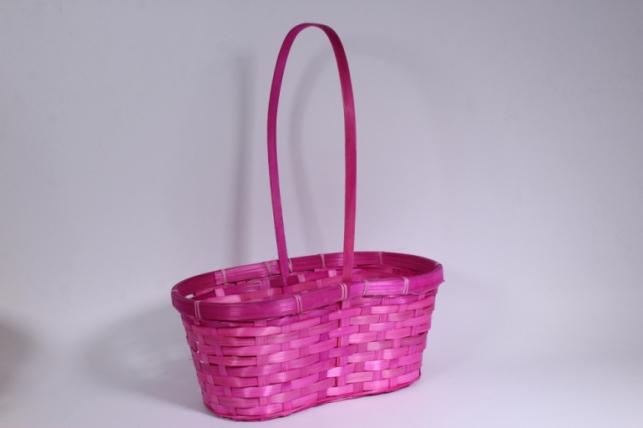Корзина плетеная (бамбук) розовая - Код 7028