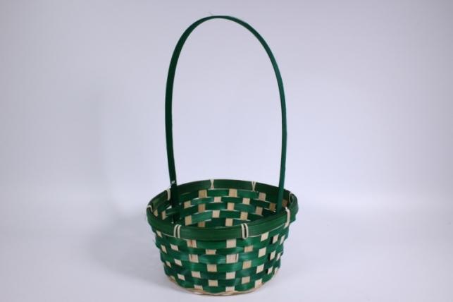 Корзина плетеная (бамбук) зеленая  (Код 5429)