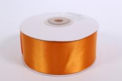 Лента атласная 38мм*25м -  Оранжевая  1099М