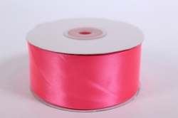Лента атласная 38мм*25м -  Ярко-розовая  1038М