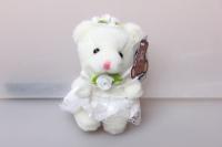 Медведица невеста (бел/роз) 1шт