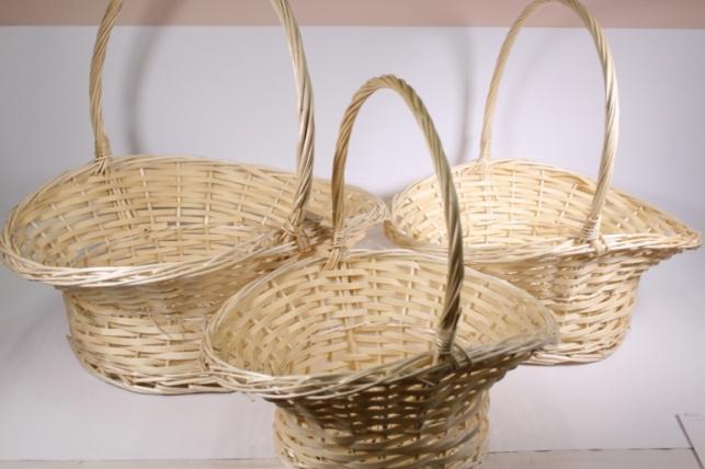 Набор плетёных корзин из 3шт - Ива (Код 3326)