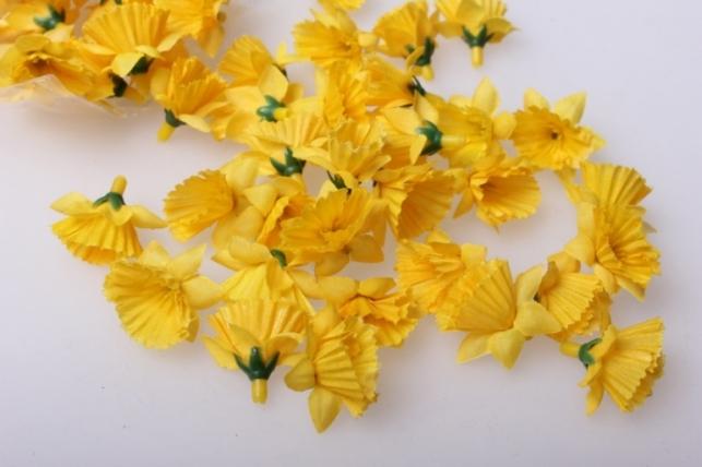 Нарцис желтый головки 3,5см (60шт в уп) 3213