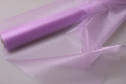 Органза-снег в рулоне 70см х 10м Светло-фиолетовый №60 (МН)