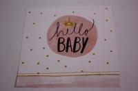 Открытка в конверте - Hello baby 10х10см