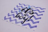 Открытка в конверте - It,s a boy 10х10см