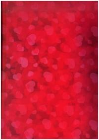 Подарочная Бумага - ГЛЯНЕЦ Море сердец  0,7*1м  (10 листов) - Код 100/450