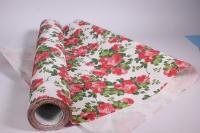 Подарочная Бумага рифленая в рулоне - Красный на белом 50см*10м 131210-50/10,,011834