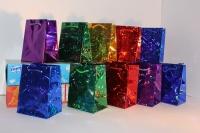 Подарочные пакеты голография  8*11 (20шт / уп)