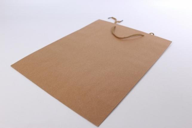 Подарочный пакет КРАФТ однотонный 28х37х10 (12 шт/уп)