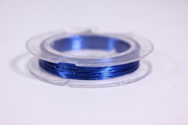 Проволока флористическая в прозр. катушке Синяя 0,3мм*10м
