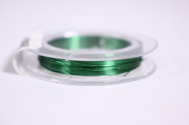 Проволока флористическая в прозр. катушке Зеленая 0,3мм*10м