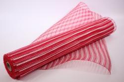 Сетка Акцент - Красный-белый 54х7,5м  (LM-23)